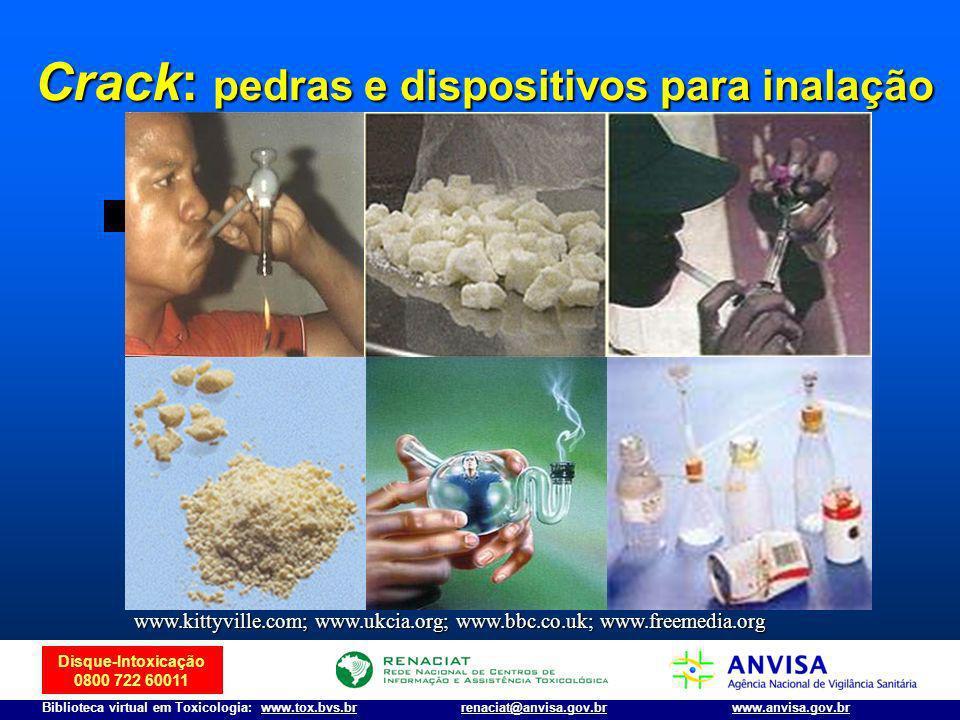 Crack: pedras e dispositivos para inalação