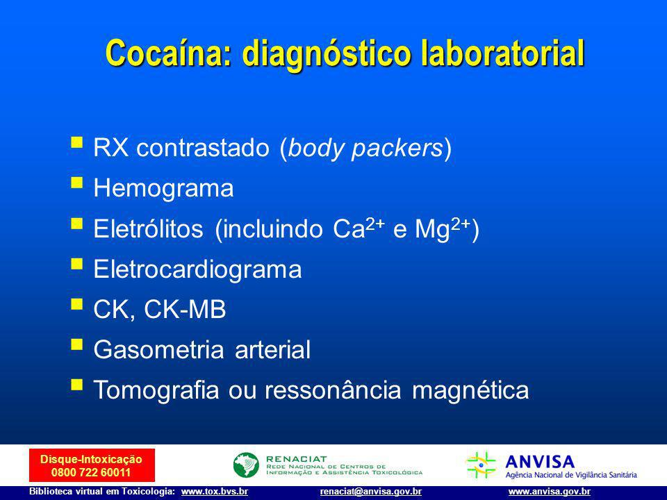 Cocaína: diagnóstico laboratorial