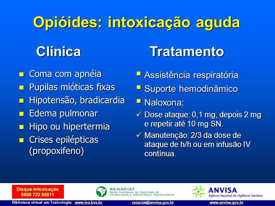 Opióides: intoxicação aguda