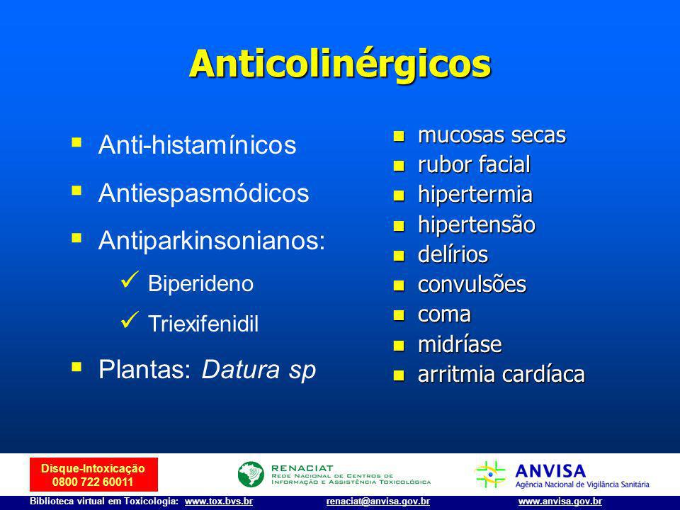 Anticolinérgicos Anti-histamínicos Antiespasmódicos