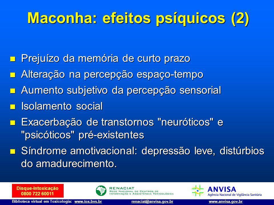 Maconha: efeitos psíquicos (2)