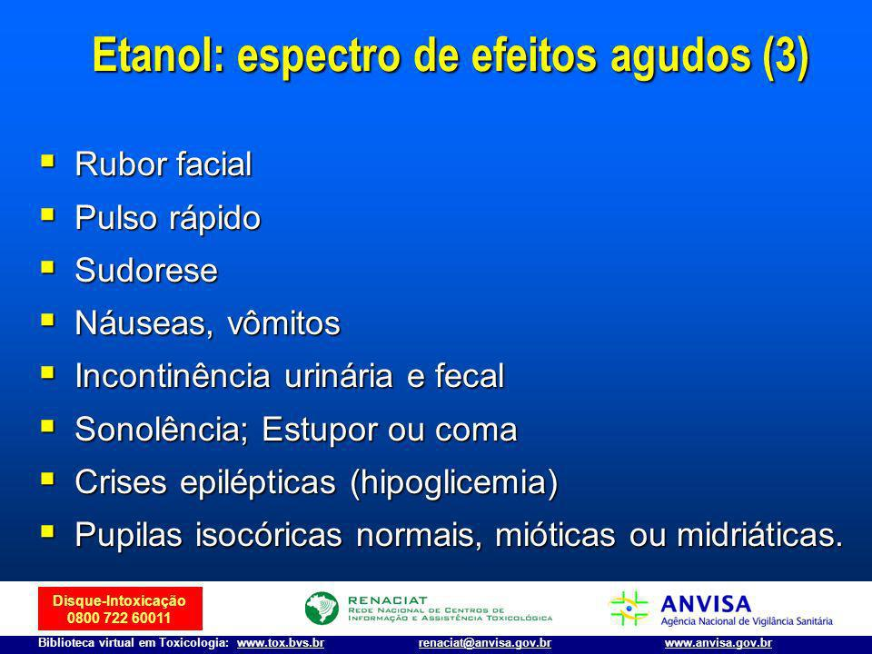 Etanol: espectro de efeitos agudos (3)