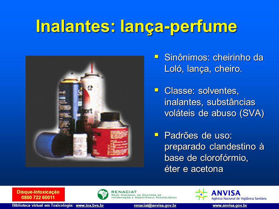 Inalantes: lança-perfume
