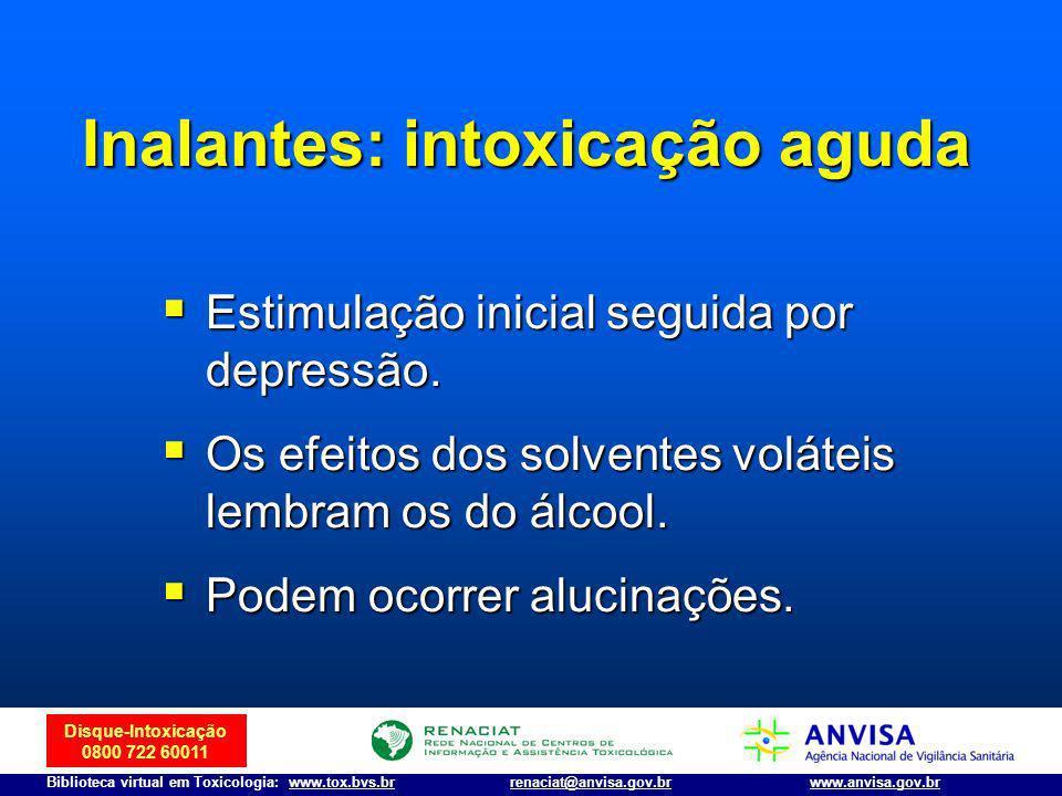 Inalantes: intoxicação aguda