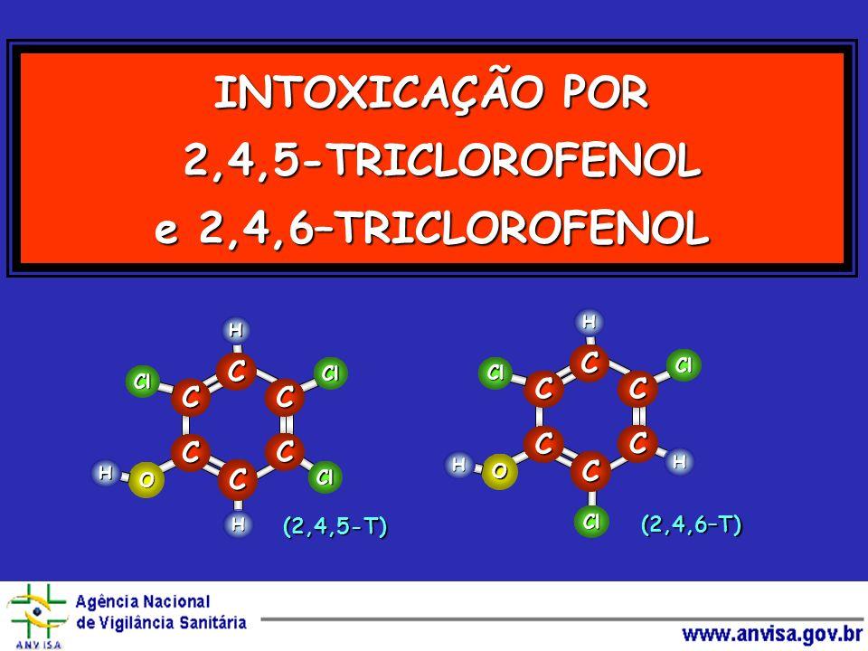 INTOXICAÇÃO POR 2,4,5-TRICLOROFENOL e 2,4,6–TRICLOROFENOL