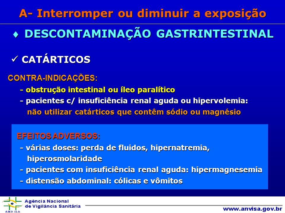 A- Interromper ou diminuir a exposição