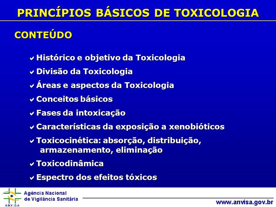 PRINCÍPIOS BÁSICOS DE TOXICOLOGIA
