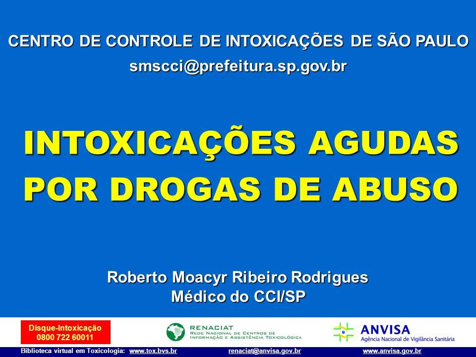 INTOXICAÇÕES AGUDAS POR DROGAS DE ABUSO