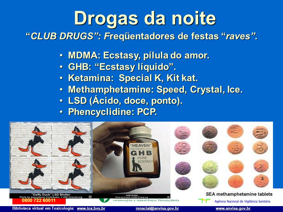 CLUB DRUGS : Freqüentadores de festas raves .