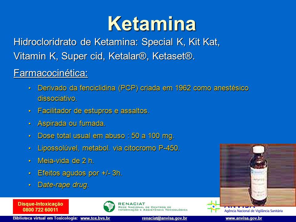 Ketamina Hidrocloridrato de Ketamina: Special K, Kit Kat,