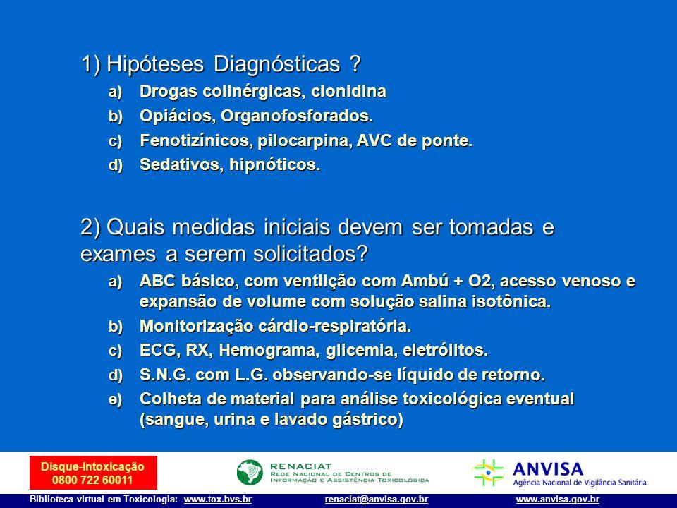 1) Hipóteses Diagnósticas