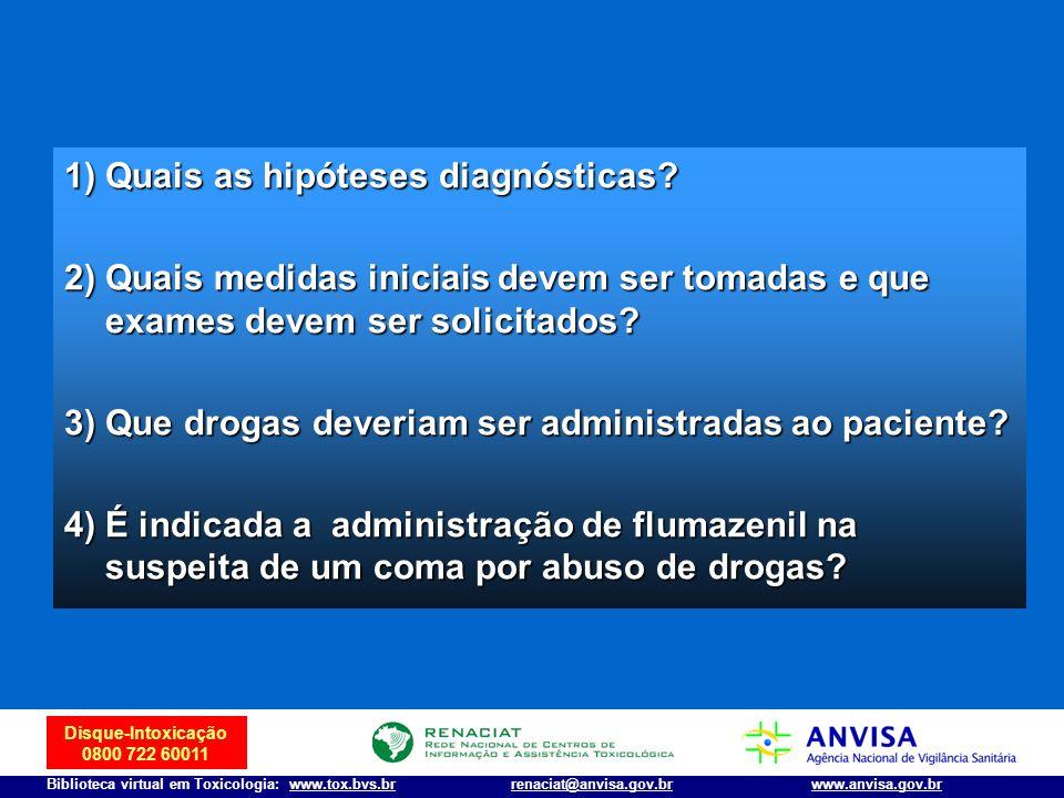 1) Quais as hipóteses diagnósticas