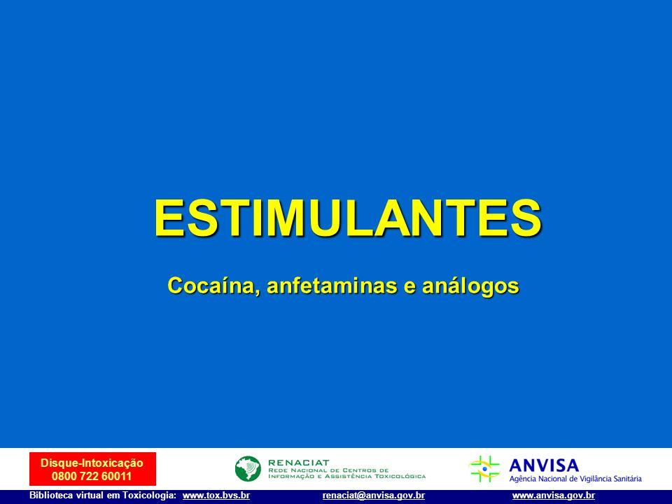 Cocaína, anfetaminas e análogos