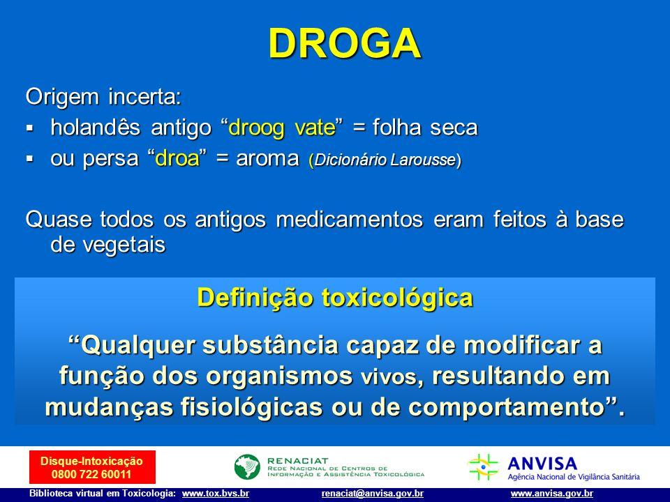 Definição toxicológica