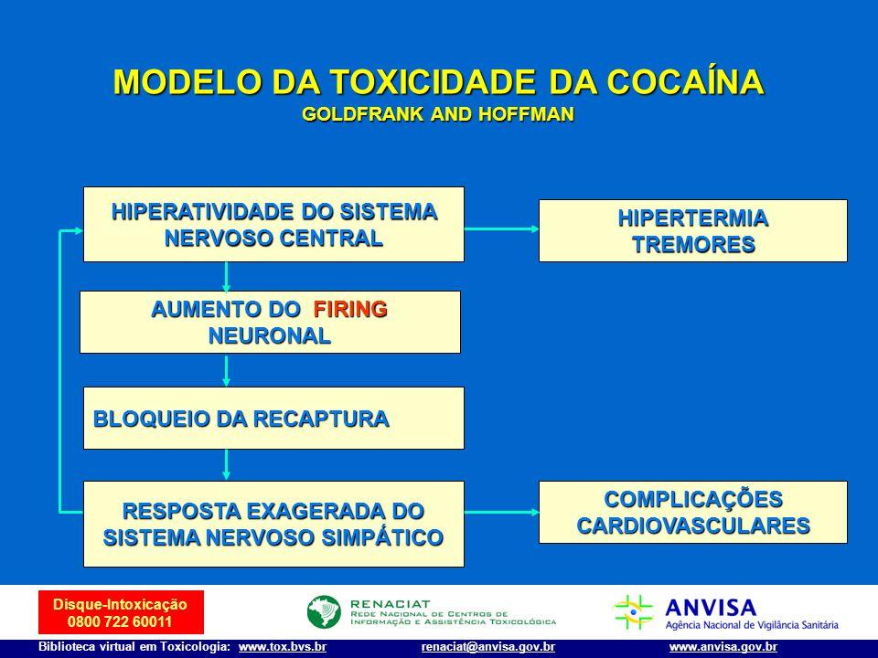 MODELO DA TOXICIDADE DA COCAÍNA