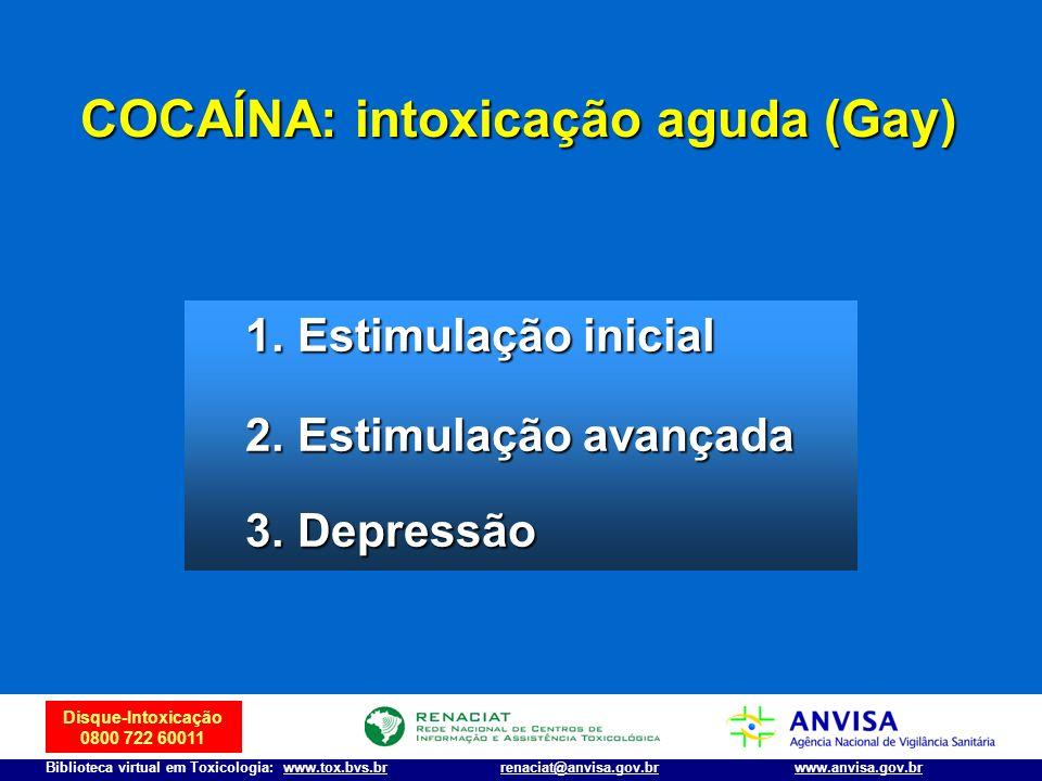 COCAÍNA: intoxicação aguda (Gay)