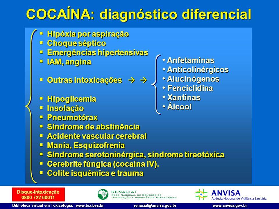 COCAÍNA: diagnóstico diferencial
