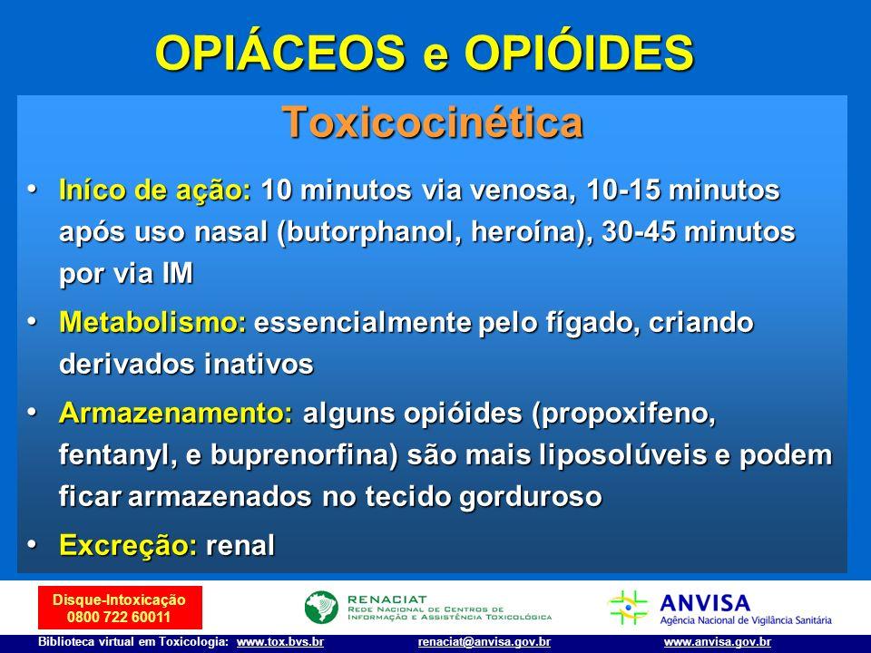 OPIÁCEOS e OPIÓIDES Toxicocinética