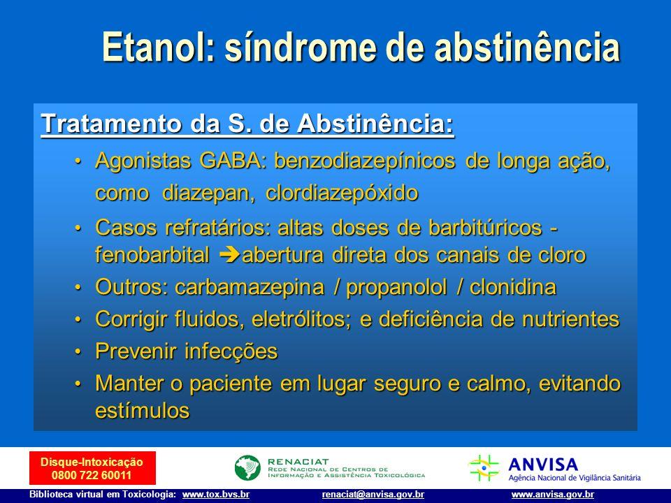 Etanol: síndrome de abstinência
