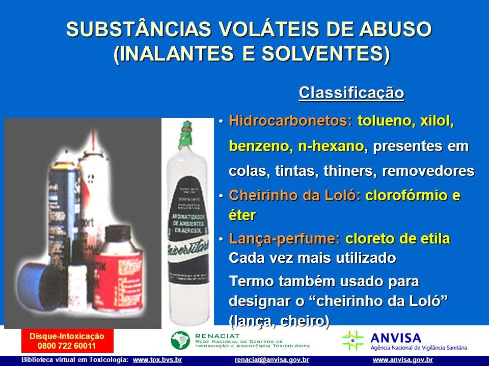 SUBSTÂNCIAS VOLÁTEIS DE ABUSO (INALANTES E SOLVENTES)