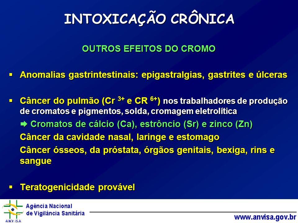 OUTROS EFEITOS DO CROMO