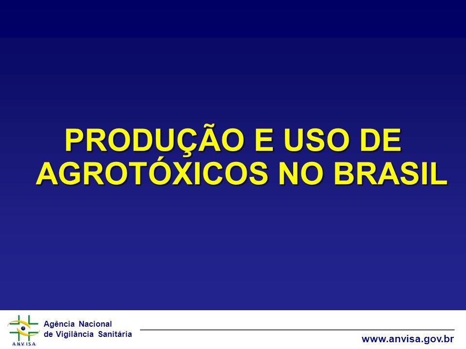 PRODUÇÃO E USO DE AGROTÓXICOS NO BRASIL
