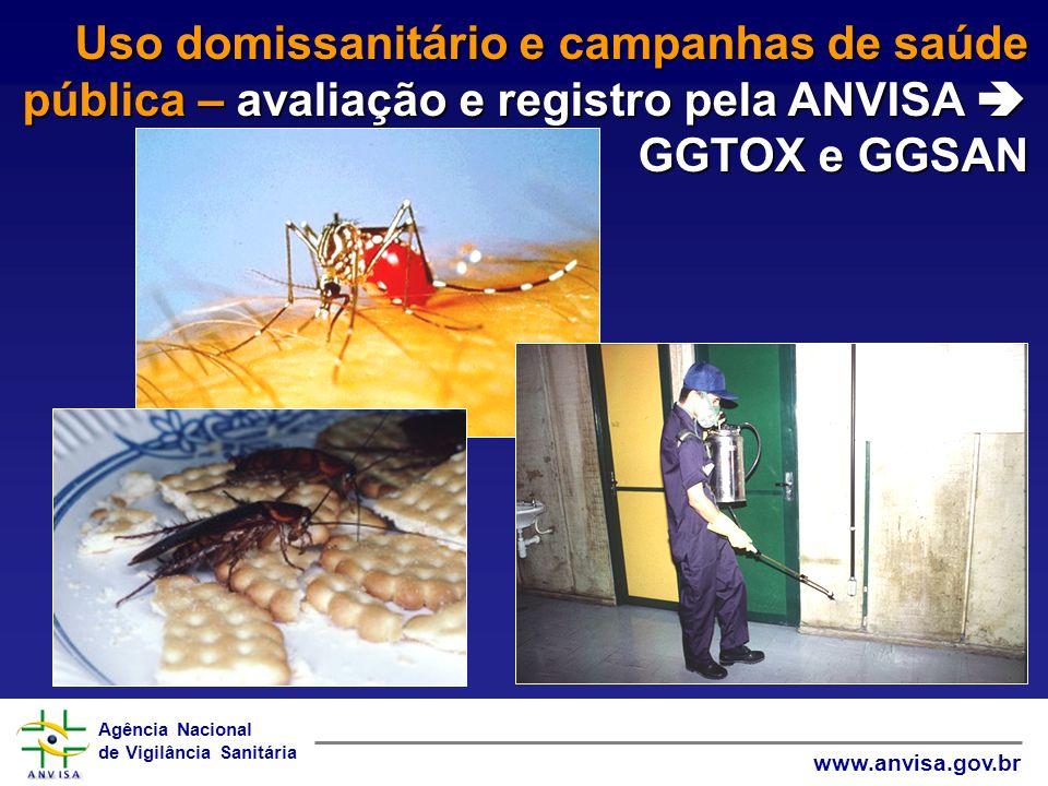 Uso domissanitário e campanhas de saúde pública – avaliação e registro pela ANVISA  GGTOX e GGSAN