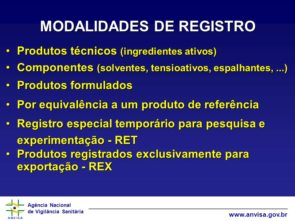 MODALIDADES DE REGISTRO