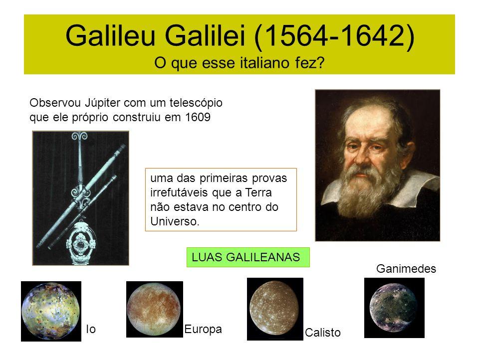 Galileu Galilei (1564-1642) O que esse italiano fez