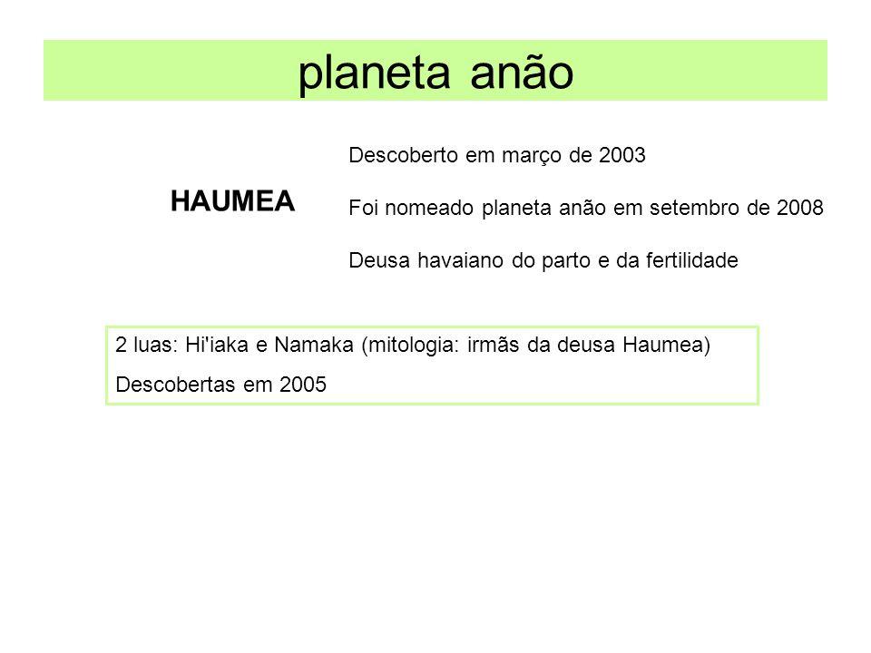 planeta anão HAUMEA Descoberto em março de 2003