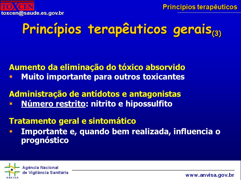 Princípios terapêuticos gerais(3)