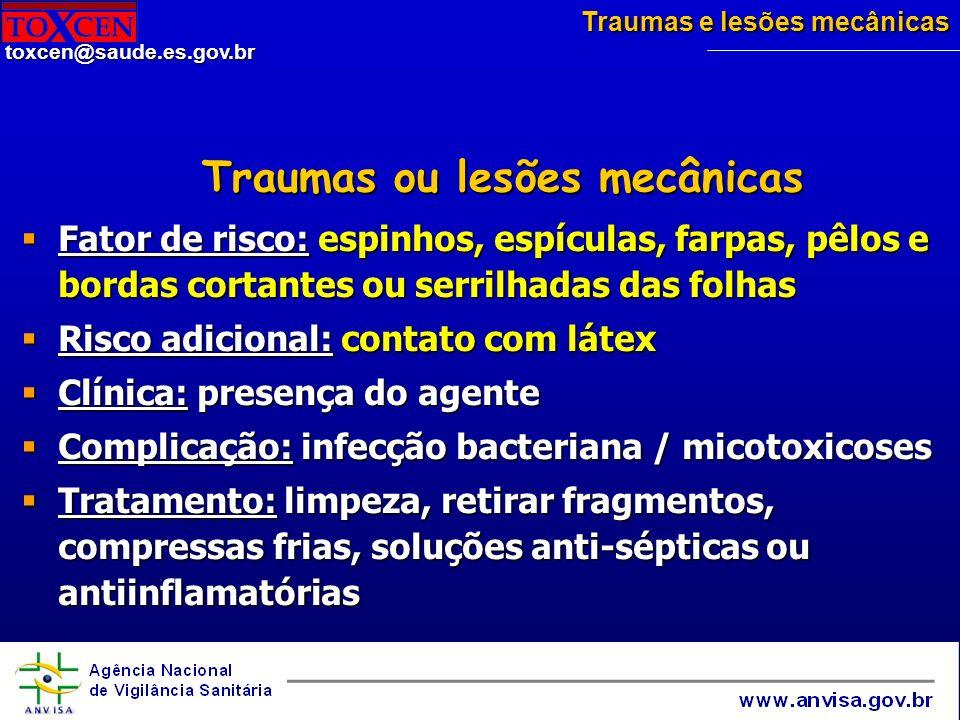 Traumas ou lesões mecânicas