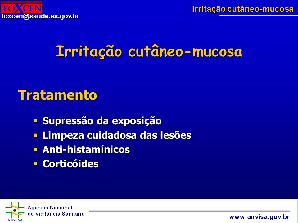Irritação cutâneo-mucosa
