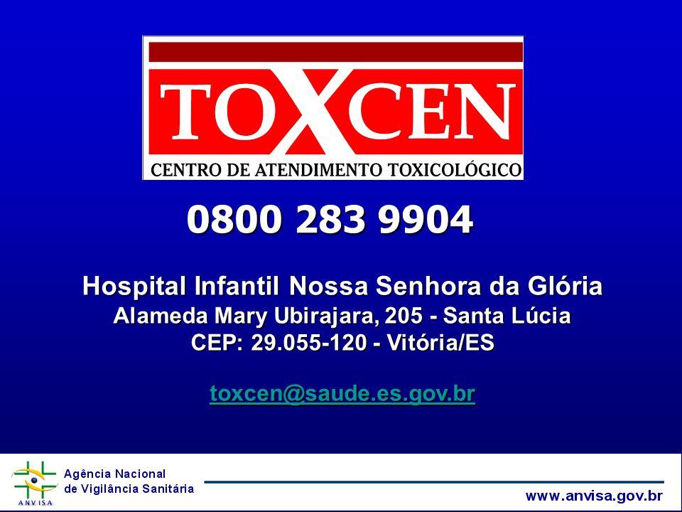 0800 283 9904 Hospital Infantil Nossa Senhora da Glória Alameda Mary Ubirajara, 205 - Santa Lúcia CEP: 29.055-120 - Vitória/ES.