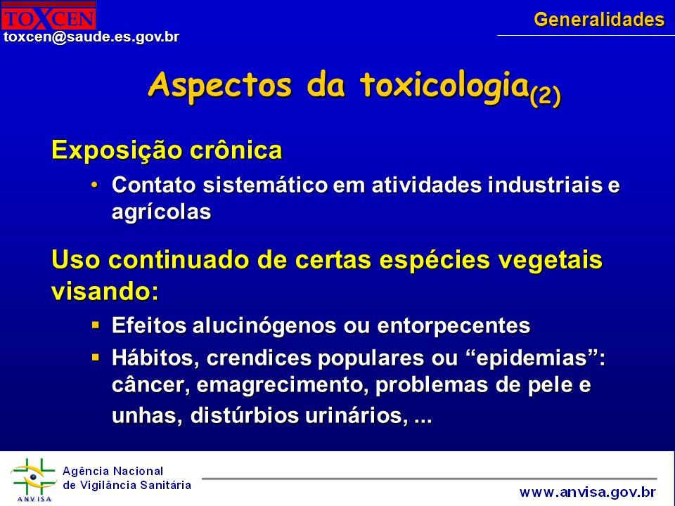 Aspectos da toxicologia(2)