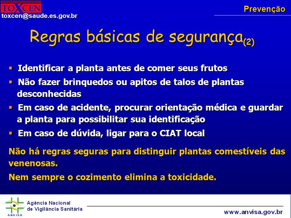 Regras básicas de segurança(2)