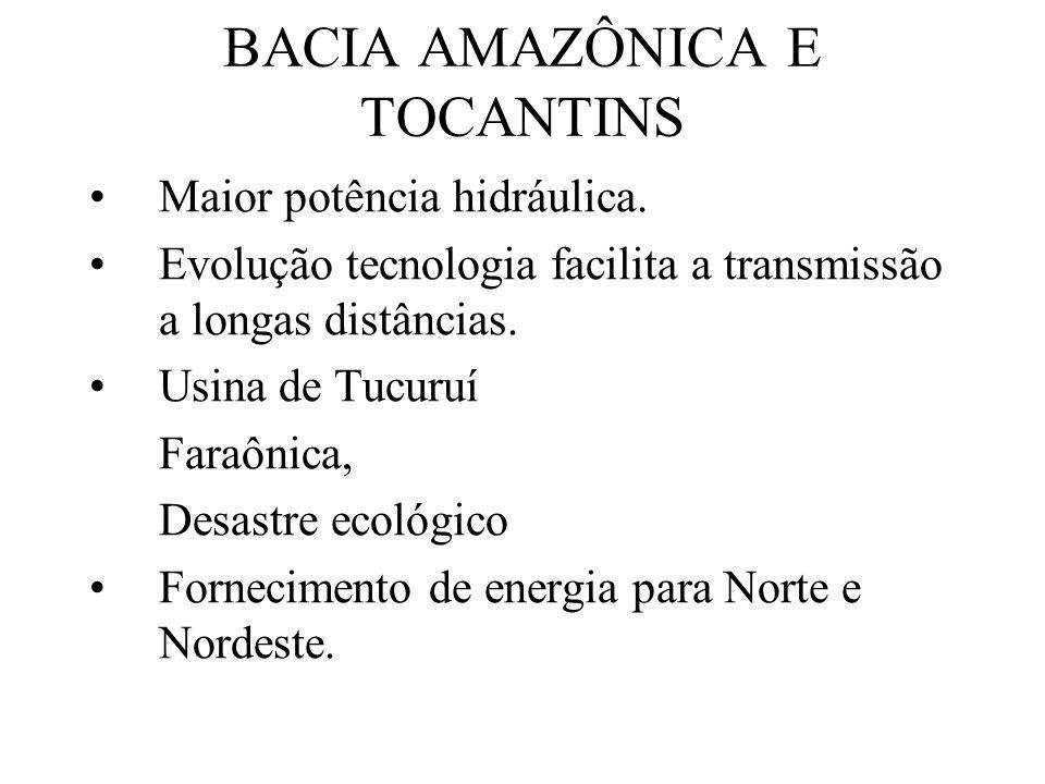 BACIA AMAZÔNICA E TOCANTINS