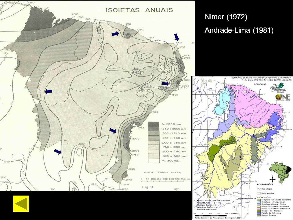 Nimer (1972) Andrade-Lima (1981)