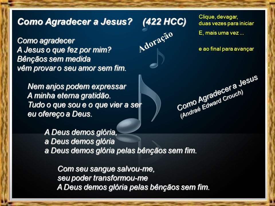 Como Agradecer a Jesus (422 HCC)