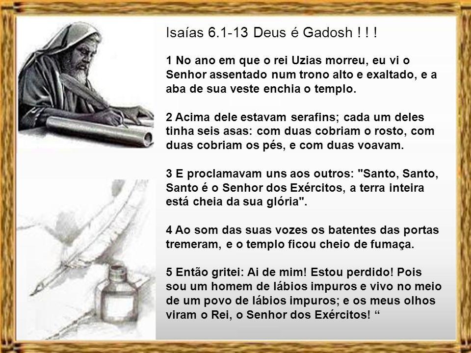 Isaías 6.1-13 Deus é Gadosh ! ! !