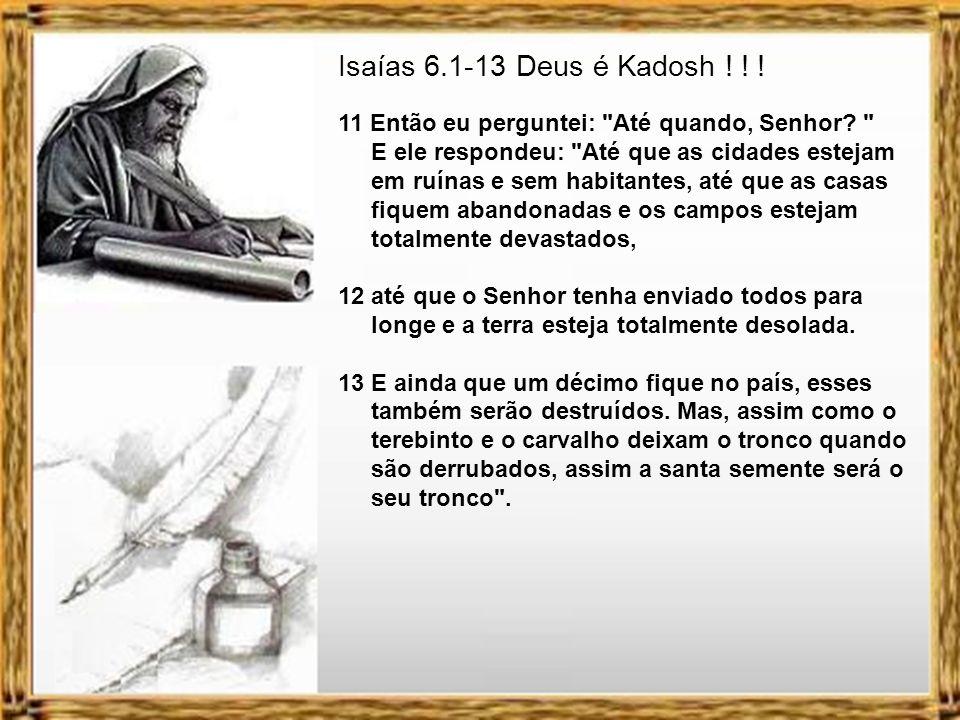 Isaías 6.1-13 Deus é Kadosh ! ! !