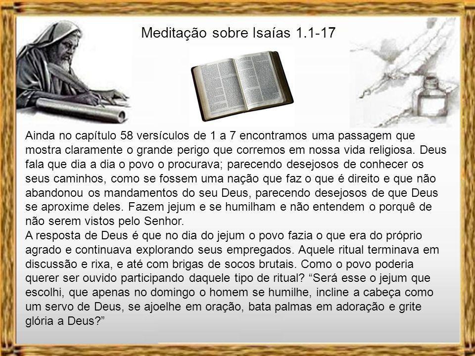 Meditação sobre Isaías 1.1-17