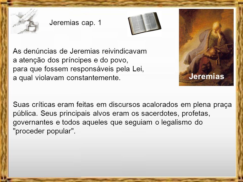 Jeremias cap. 1