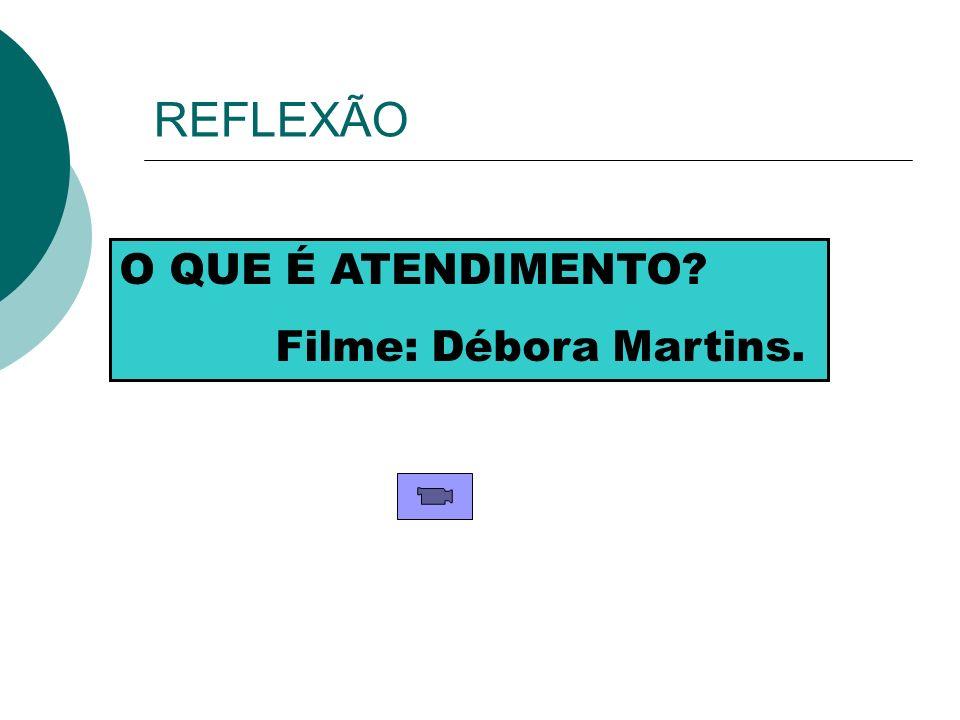 REFLEXÃO O QUE É ATENDIMENTO Filme: Débora Martins.