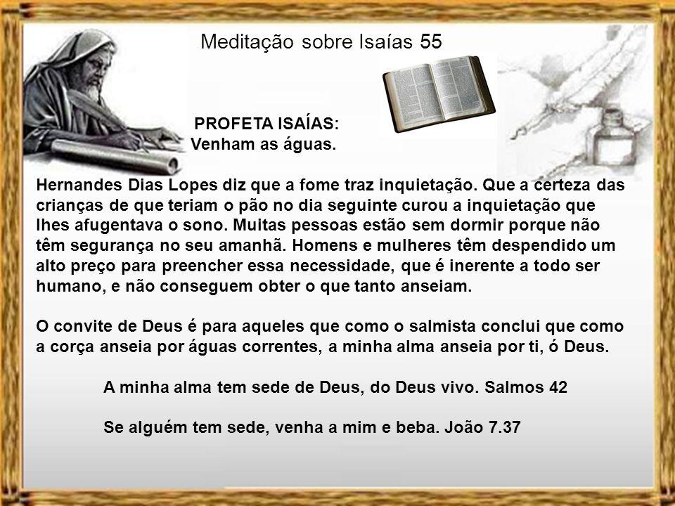 Meditação sobre Isaías 55