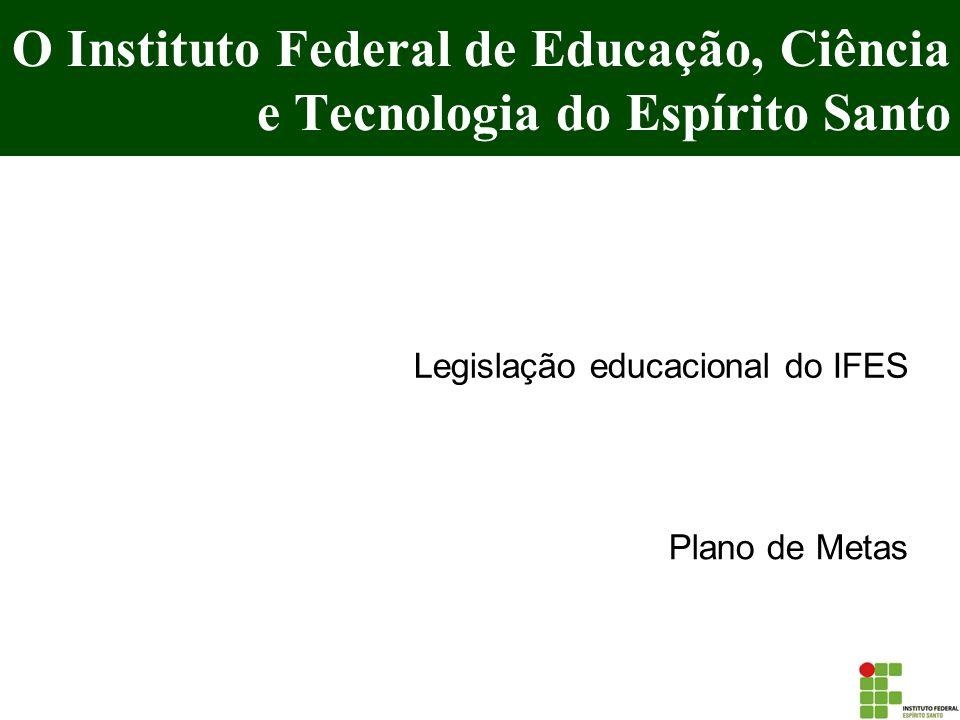 O Instituto Federal de Educação, Ciência e Tecnologia do Espírito Santo