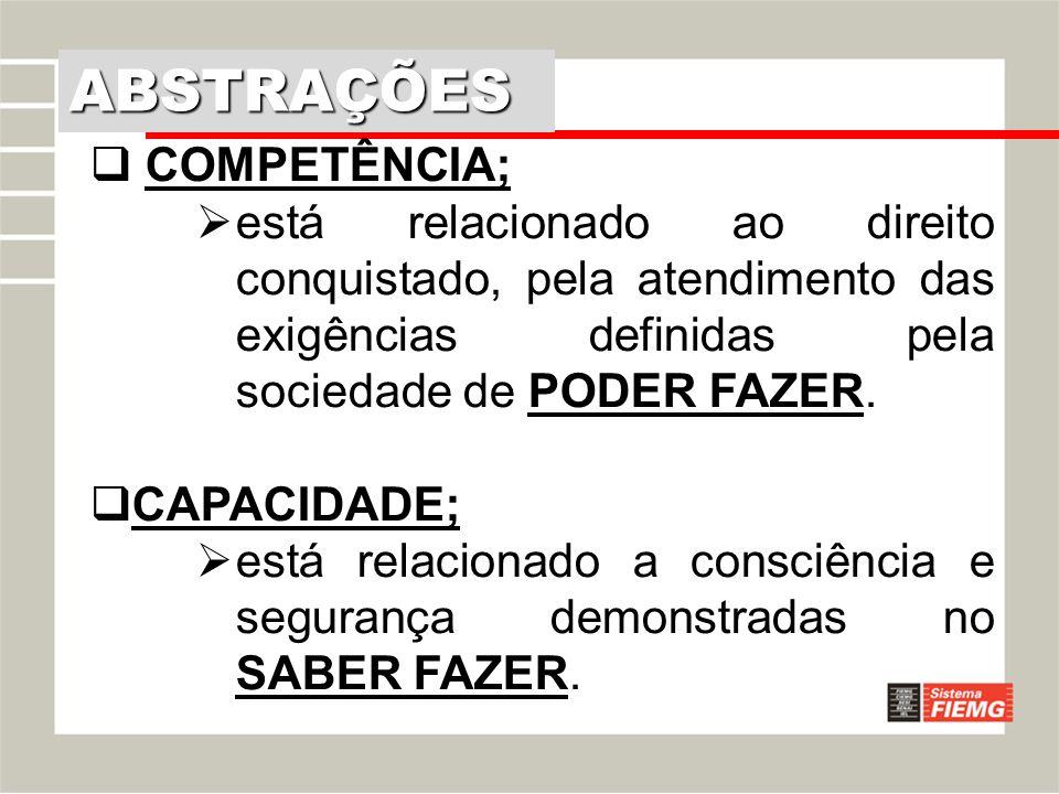 ABSTRAÇÕES COMPETÊNCIA;