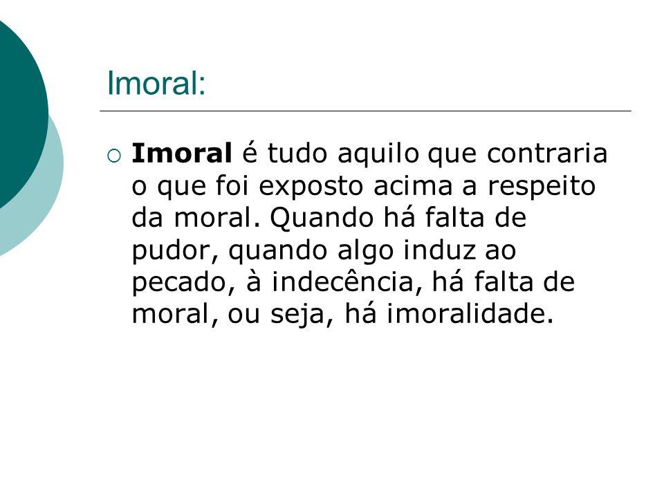 Imoral: