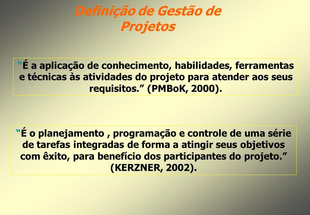 Definição de Gestão de Projetos
