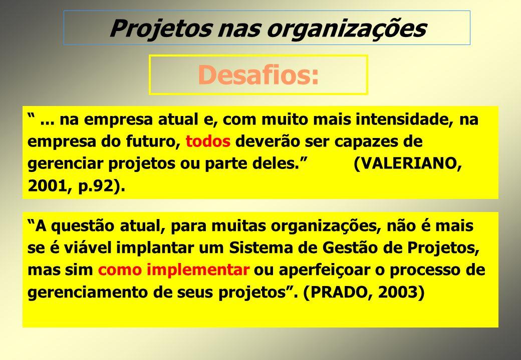 Projetos nas organizações